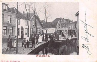 Ansichtkaart Maasland 1902 Binnenvaart schepen Kleinrondstempel Filatelie HC6274