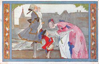 Ansichtkaart Rie Cramer Kinderdeuntjes uit Grootmoeders tijd In Den Haag daar woont een graag 1943 Illustrator Fantasie HC6279