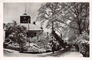 Ansichtkaart Warnsveld Ned. Hervormde Kerk in de sneeuw 1948. HC6294