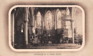 Ansichtkaart Erica Drenthe Interieur R.K. Kerk HC6296