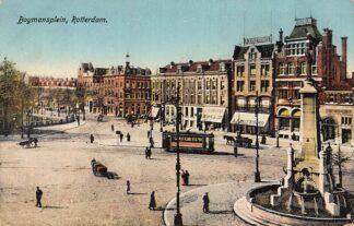 Ansichtkaart Rotterdam Boymansplein met RTM Tram HC6306