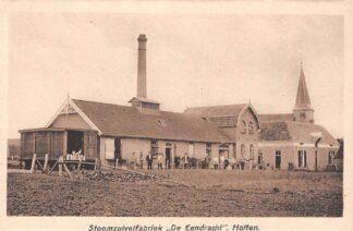 Ansichtkaart Holten Stoom zuivelfabriek De Eendracht met personeel HC6310