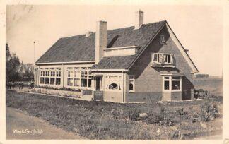 Ansichtkaart West-Graftdijk Fotokaart School 1945 Gemeente Alkmaar Schermer HC6312