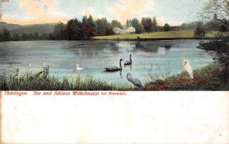 Ansichtkaart Thuringen See und Schloss Wilhelmstal bei Eisenach Militair verzonden 1915 Duitsland Deutschland HC6319