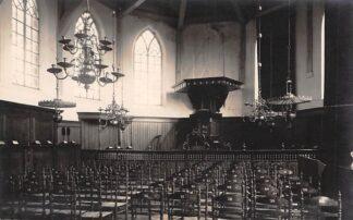 Ansichtkaart West-Graftdijk Fotokaart Interieur Hervormde Kerk C.W. Kouw Fotograaf Alkmaar Schermer HC6340