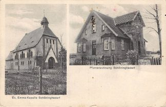 Ansichtkaart Schoninghsdorf Ev. Emma-Kapelle und Pfarrerwohnung Duitsland Deutschland HC6341