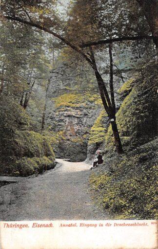 Ansichtkaart Thuringen Eisenach Annatal Eingang in die Drachenschlucht 1915 Achterzijde Reclame Sodex Stuivers zeep Duitsland HC6350