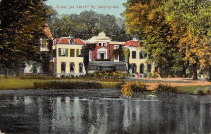 Ansichtkaart Leusden Huize de Treek bij Amersfoort Militair verzonden 1915 HC6365