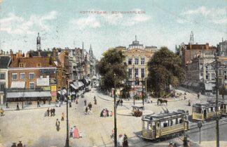 Ansichtkaart Rotterdam Boymansplein RTM Tram Lijn 2 en 8 1915 HC6384