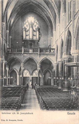 Ansichtkaart Gouda Gouwe Interieur St. Josephskerk met orgel Gompers HC6433