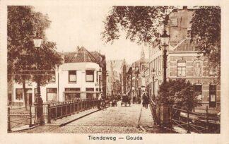 Ansichtkaart Gouda Tiendewegbrug Paard en wagen HC6442