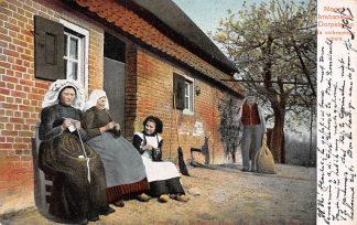 Ansichtkaart Noord-Brabant Brabantsch Dorpsleven 1904 Na voldane arbeid Boerderij Klederdracht HC6476
