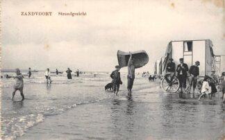 Ansichtkaart Zandvoort Strand gezicht Badkoetsen Zee 1918 HC6478