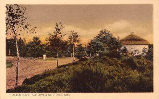 Ansichtkaart Holten (OV) Autoweg met Theehuis HC6483