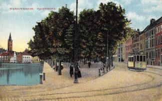 Ansichtkaart 's-Gravenhage Vijverberg met HTM Tram Militair verzonden 1916 HC6496