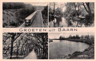 Ansichtkaart Baarn Groeten uit Spoorwegravijn Trein Wilhelminavijver Benceaux in het Bosch Langs de Eem HC6514