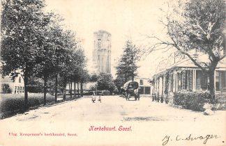 Ansichtkaart Soest Kerkebuurt met Paard en wagen Kleinrondstempel Soest en Burgerbrug 1904  HC6519