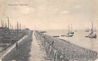 Ansichtkaart Bruinisse Langendam met vissers schepen 1911 Schouwen-Duiveland Scheepvaart HC6524