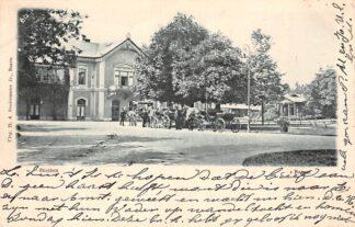 Ansichtkaart Baarn Station met Paard en wagen 1900 Spoorwegen HC6527