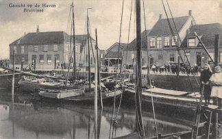 Ansichtkaart Bruinisse Gezicht op de Haven met vissers schepen ZZ13 Zierikzee Binnenvaart schepen Scheepvaart HC6531