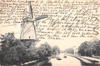 Ansichtkaart Voorschoten Molen aan het Kanaal Soldaten brief Militair verzonden Hannover 1903 Filatelie Leiden HC6538