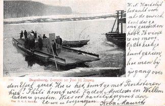 Ansichtkaart Doesburg Overtocht per Pont bij IJsgang IJssel Veer Winter 1902 HC6542