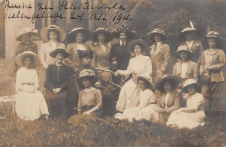 Ansichtkaart Tiel Fotokaart Damesgezelschap uit Tiel te Godesberg Duitsland in 1911 HC6545