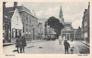 Ansichtkaart Bruinisse Oude Straat 1935 Schouwen-Duiveland HC6551