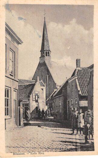 Ansichtkaart Bruinisse Korte Ring met volk Schouwen-Duiveland HC6558