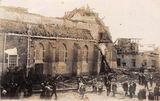 Ansichtkaart Borculo Fotokaart verwoeste kerk Stormramp 1925 HC6559