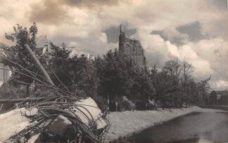Ansichtkaart Tiel Fotokaart verwoeste Kerk Foto-atelier Campagne HC6561