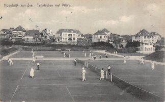 Ansichtkaart Noordwijk aan Zee Tennisbaan met Villa's HC6606