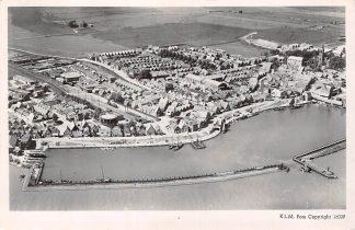 Ansichtkaart Volendam KLM Luchtfoto 16009 1947 HC6615