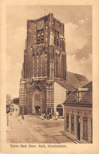 Ansichtkaart Woudrichem Toren Ned. Hervormde Kerk 1924 HC6634