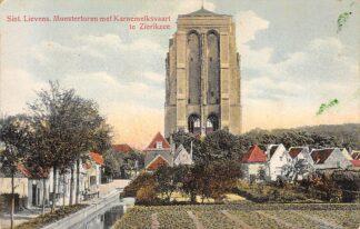Ansichtkaart Zierikzee Sint Lievens Monstertoren met Karnemelksvaart HC6640