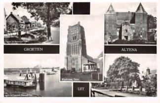 Ansichtkaart Altena Groeten uit Woudrichem Rijswijk (NB) Nieuwendijk Sleeuwijk Kasteel Loevestein HC6642