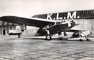 Ansichtkaart Vliegtuigen Fokker F-IX (PH-AGA) Adelaar KLM Luchtvaart 1967 HC6647