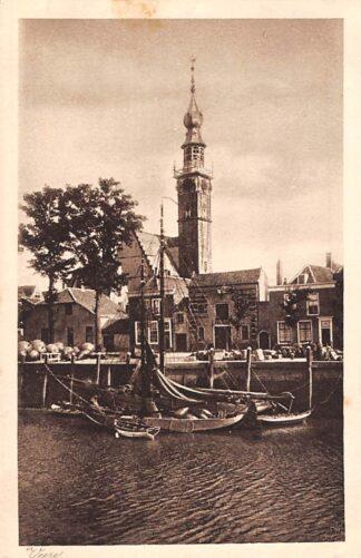 Ansichtkaart Veere Haven met schepen Scheepvaart 1915 HC6658