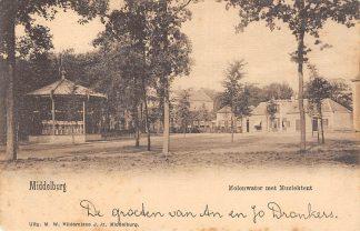Ansichtkaart Middelburg Molenwater met Muziektent 1901 HC6682