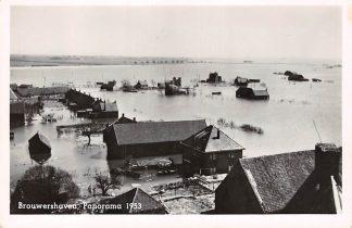 Ansichtkaart Brouwershaven Panorama Watersnood 1953 HC6697