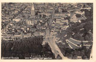 Ansichtkaart Seestad Rostock vom Flugzeug aus gesehen Kern-Luftbild Nr. 2901 freig. RLM Duitsland Deutschland HC6709