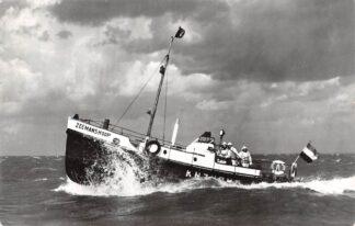Ansichtkaart Urk Motor reddingboot Zeemanshoop K.N.Z.H.R. Maatschappij 1966 Scheepvaart Schepen HC6713