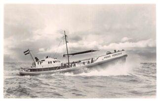Ansichtkaart Den Helder Reddingboot Prins Hendrik N.Z.H.R.M. Scheepvaart Schepen 1958 HC6716
