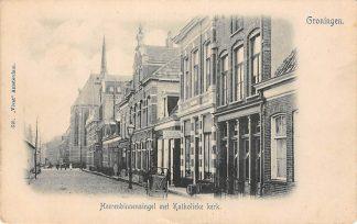 Ansichtkaart Groningen Heerenbinnensingel met Katholieke Kerk Vivat Nr. 640 HC6733