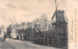 Ansichtkaart Alkmaar Schermerpoort Molen 1904 HC6735