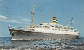 Ansichtkaart Rotterdam S.S. Ryndam Holland Amerika Lijn Stempel Oceanpost 1953 Scheepvaart Schepen Holland America Line HC6746