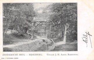 Ansichtkaart Rijsenburg Zwitsersche Brug 1902 Driebergen HC6758