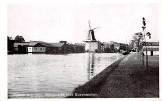 Ansichtkaart Alphen aan den Rijn Rijngezicht met Korenmolen Molen HC6763