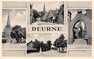 Ansichtkaart Deurne Molenstraat R.K. kerk en kerktrap HC6782