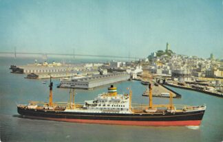 Ansichtkaart Rotterdam s.s. Diemerdyk Holland America Line Holland Amerika Lijn at San Francisco Noord-Amerika Scheepvaart Schepen HC6786